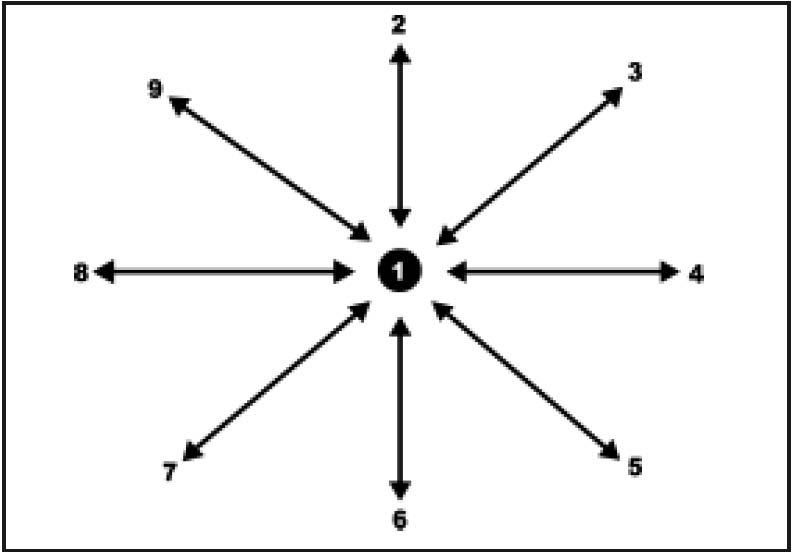 6 cardinal positions